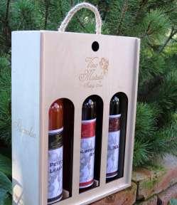 darčekové balenie vína, drevená krabička na víno, luxusné balenie vína, víno v dreve, narodeninové balenie vína