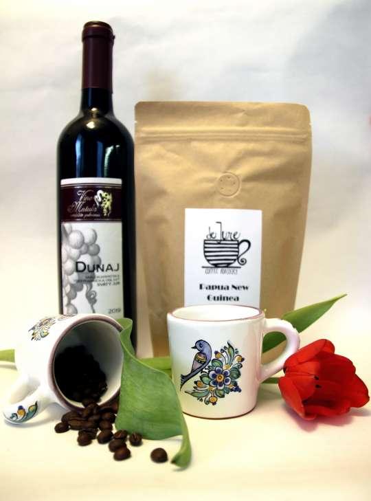 gurmansky balicek, majolika, šálky, káva, šálky s vtačikmi