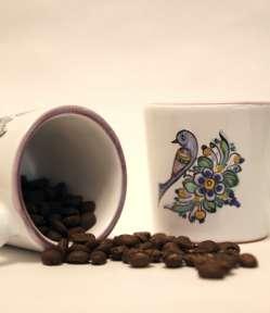 slovenská ľudová majolika, šalky na kávu