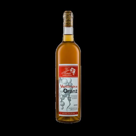 víno Veltlínske Oranž 2019
