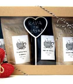 darčekové balenie 4 druhov káv