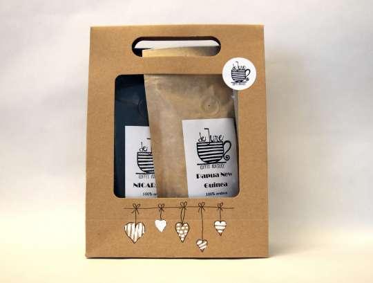 Darčekové balenie 2 druhov káv